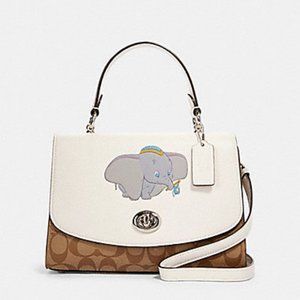 Coach Disney Tilly Top Handle Satchel Canvas Dumbo